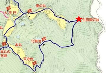 散策マップ、引田灯台