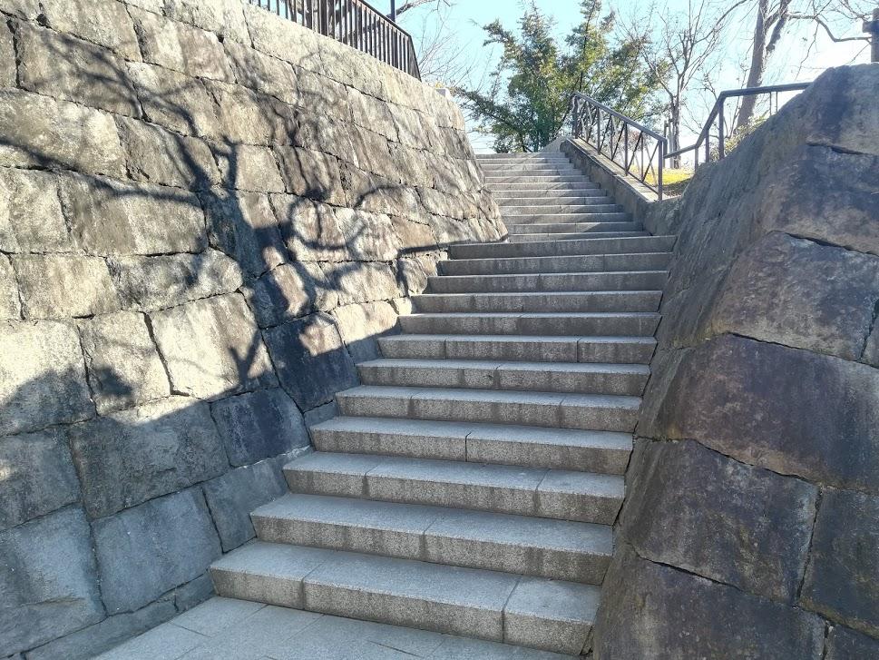 有岡城跡階段