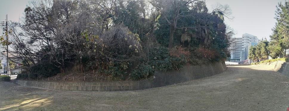 有岡城西側堀パノラマ