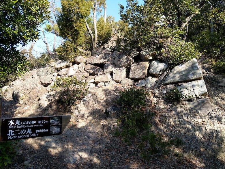 本丸の石垣正面