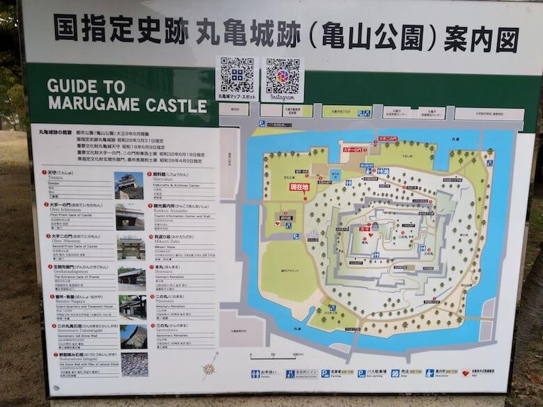 丸亀城跡案内図