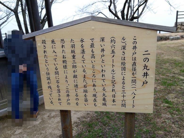 二の丸井戸説明板