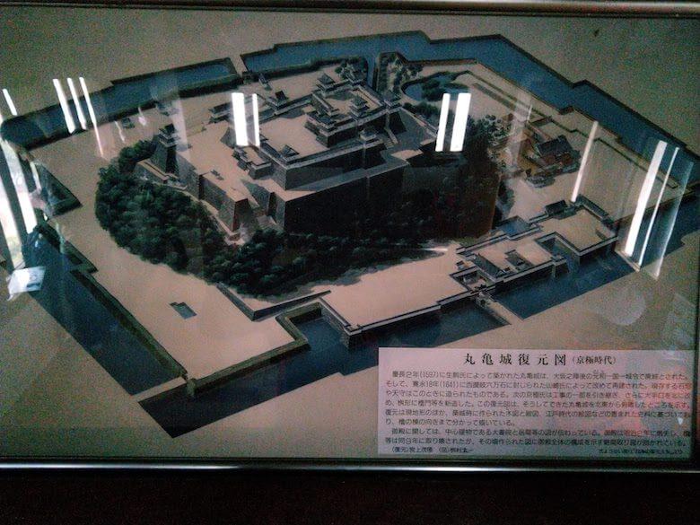 丸亀城復元図(京極時代)