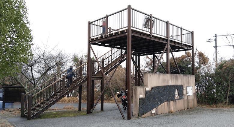 大麻山キャンプ場の展望台