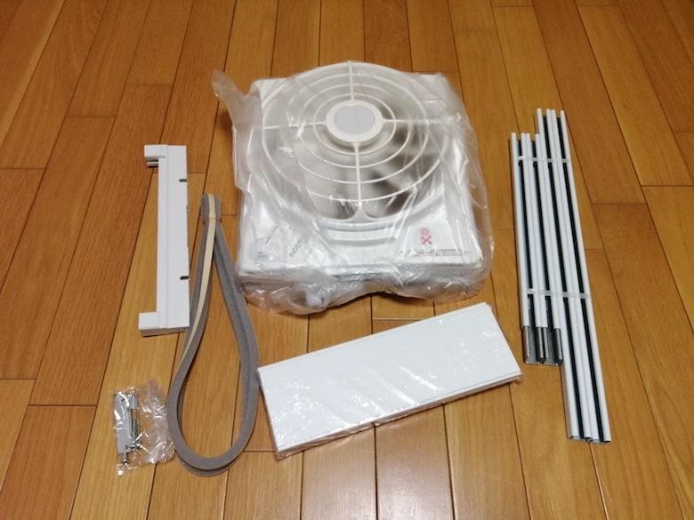 東芝 窓用換気扇 VRW-20X2のセット内容