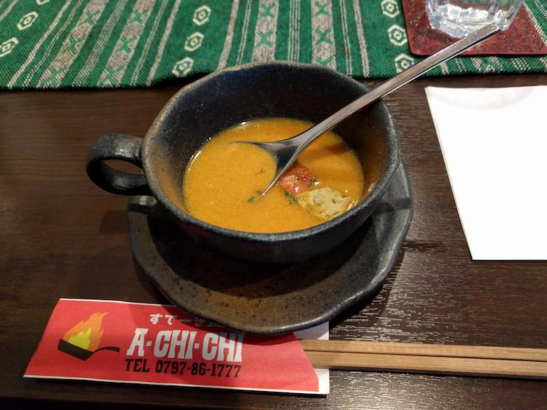 すてーき食堂アチチのランチ(スープ)