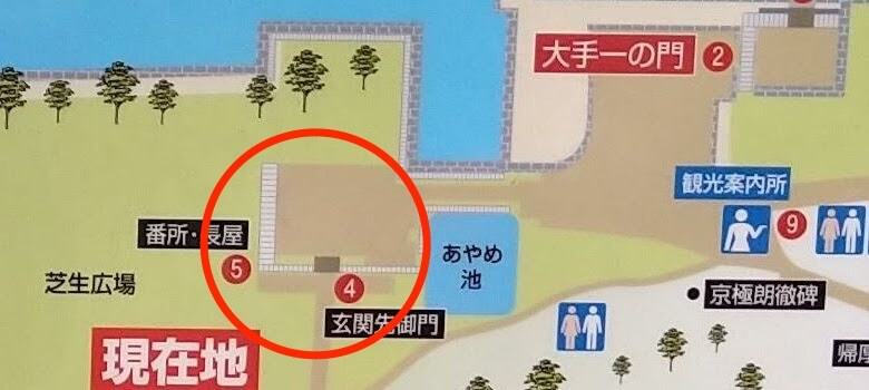 map-玄関先御門、番所・長屋