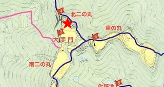 散策マップ、北二の丸