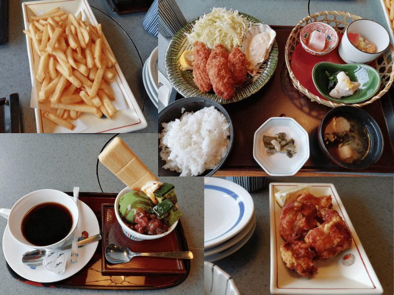2021年2月に訪問したかごの屋での食事(一部)