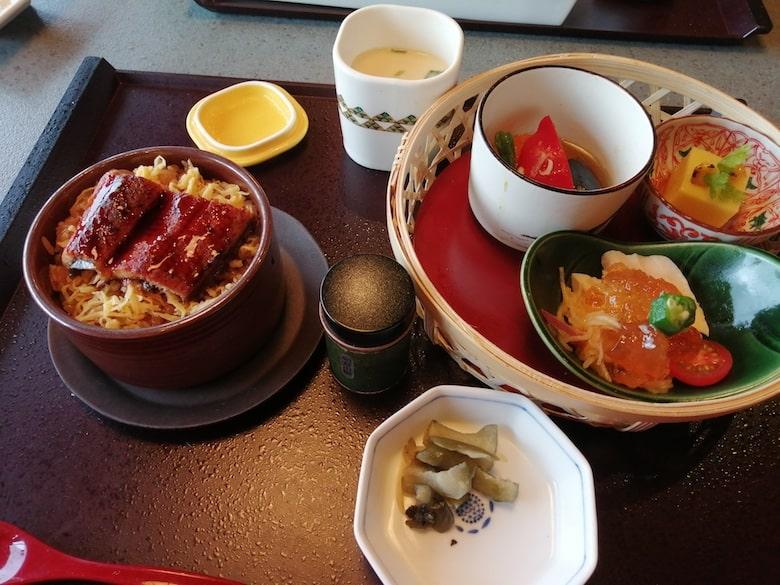 鰻せいろご飯と季節のおばんざいセット:1,529円