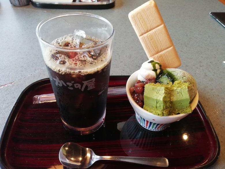 デザートセット アイスコーヒー・極上抹茶パフェ:550円