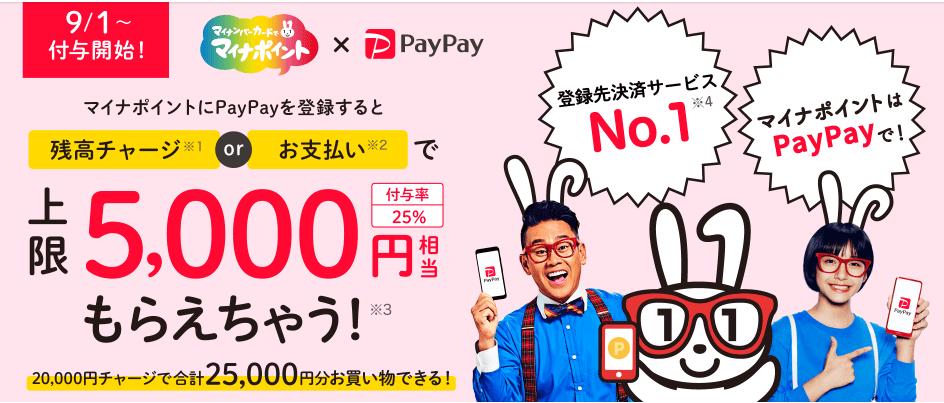 PayPayのマイナポイントキャンペーン