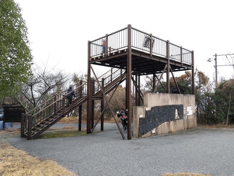 かなり高さのある展望台