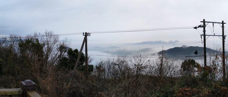 展望台からの眺め(雲海)