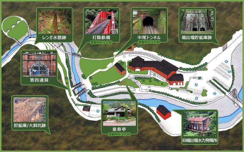 園地内産業遺産マップ
